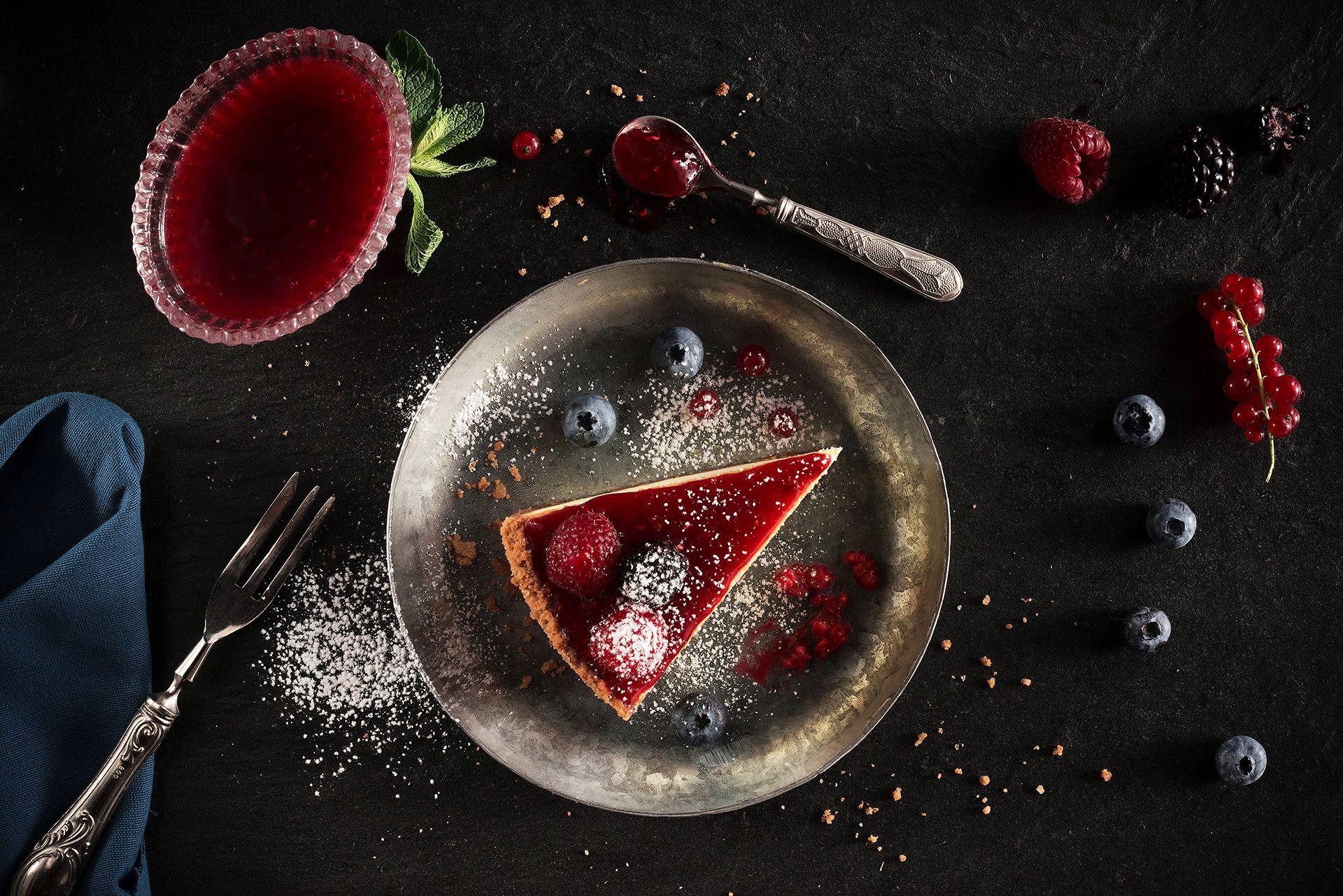 Fotografo cibo cheesecake